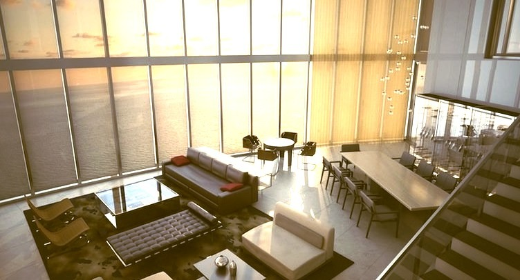 Luxury Penthouse Living Room