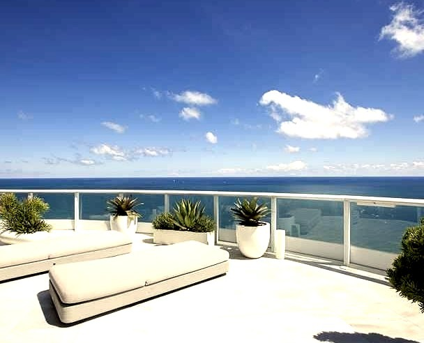 View of Ocean from Balcony on Perfect Day