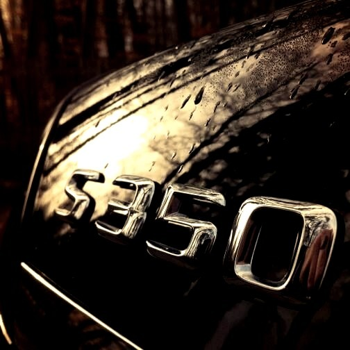 Black Mercedes S350 Badge