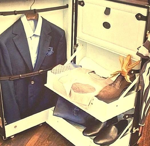 Classy luggage.