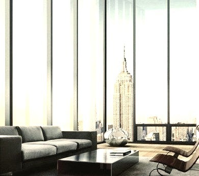 Crib, New York, Empire State Building, Penthouse, Living Room