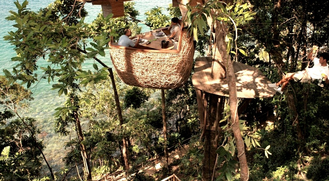 Thailand, Dining Places, Nature, Pods, Architecture